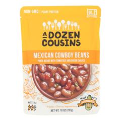 HGR2370625 - A Dozen Cousins - Ready to Eat Beans - Mexican Pinto - Case of 6 - 10 oz..