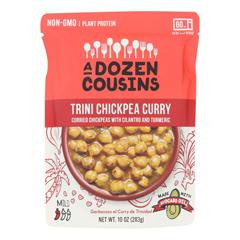 HGR2370641 - A Dozen Cousins - Ready to Eat Beans - Trini Chickpea Curry - Case of 6 - 10 oz..