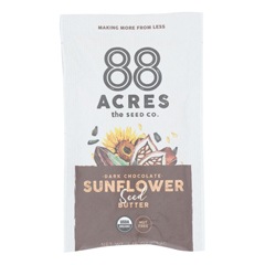 HGR2410611 - 88 Acres - Seed Butter - Organic Dark Chocolate Sunflower - Case of 10 - 1.16 oz..