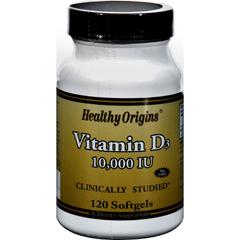 HGR0242206 - Healthy Origins - Vitamin D3 - 10000 IU - 120 Softgels