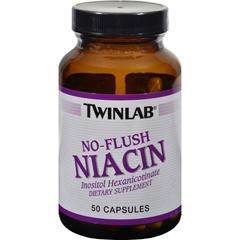 HGR0243444 - TwinlabNo Flush Niacin - 50 Capsules