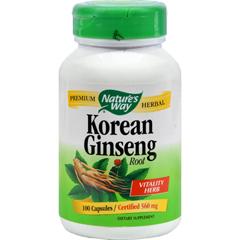 HGR0392209 - Nature's Way - Korean Ginseng Root - 100 Capsules