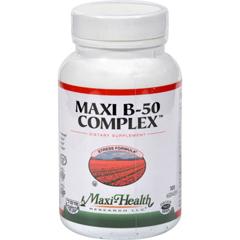 HGR0421891 - Maxi Health Kosher VitaminsMaxi Health Maxi B-50 Complex - 100 Maxi Caps