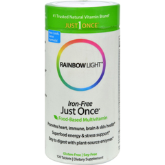 HGR0580241 - Rainbow LightJust Once Iron-Free Food-Based Multivitamin - 120 Tablets