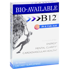 HGR0617571 - WellgenixSublingual B12 with B6 and Folic Acid - 30 Tablets