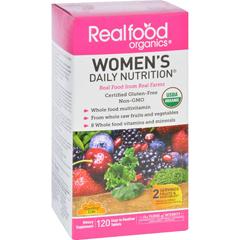 HGR0655670 - Realfood OrganicsDaily Nutrition - Organic - Womens - 120 Tablets