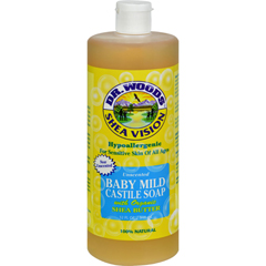 HGR0667840 - Dr. WoodsShea Vision Pure Castile Soap Baby Mild with Organic Shea Butter - 32 fl oz