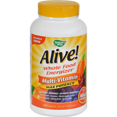 HGR0678136 - Nature's WayAlive Multi-Vitamin No Iron Added - 180 Tablets