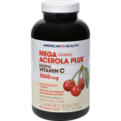 HGR0705848 - American HealthMega Acerola Plus Chewable Natural Berry - 60 Chewable Wafers