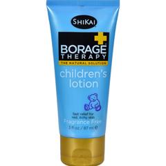HGR0713263 - Shikai Products - Shikai Borage Therapy Childrens Lotion Fragrance Free - 3 fl oz