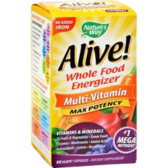 HGR0784058 - Nature's WayAlive Whole Food Energizer Mult-Vitamin - 90 Vcaps