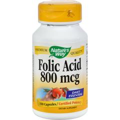 HGR0816926 - Nature's WayFolic Acid - 800 mcg - 100 Capsules