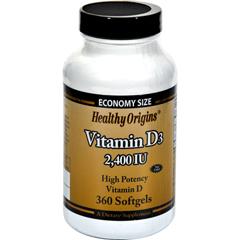 HGR0820811 - Healthy Origins - Vitamin D3 - 2400 IU - 360 Softgels