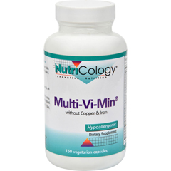 HGR0821884 - NutricologyNutriCology Multi-Vi-Min without Copper and Iron - 150 Vegetarian Capsules