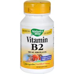 HGR0912881 - Nature's Way - Vitamin B-2 - 100 mg - 100 Capsules