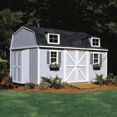 HHS18422-2 - Handy Home ProductsPremier Series - Berkley 10' x 14' Storage Building With Floor Kit