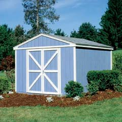 HHS18406-2 - Handy Home ProductsPremier Series - Somerset 8' x 12' Storage Building With Floor Kit