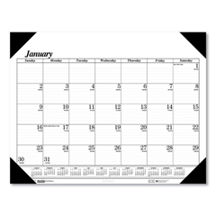 HOD0124 - Recycled Workstation-Size One-Color Monthly Desk Pad Calendar, 18.5 x 13, 2022