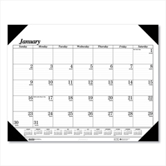 HOD124 - House of Doolittle™ 100% Recycled One-Color Dated Monthly Desk Pad Calendar