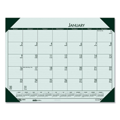 HOD12471 - House of Doolittle™ EcoTones® 100% Recycled Monthly Desk Pad Calendar