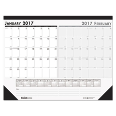 HOD134 - House of Doolittle™ 100% Recycled Two-Month Desk Pad Calendar