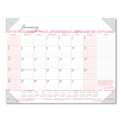 HOD1466 - House of Doolittle™ Breast Cancer Awareness 100% Recycled Monthly Desk Pad Calendar