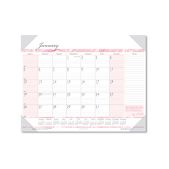 HOD1467 - House of Doolittle™ Breast Cancer Awareness 100% Recycled Monthly Desk Pad Calendar