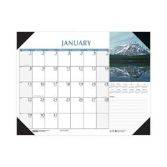 HOD1476 - Earthscapes Scenic Desk Pad Calendar, 18.5 x 13, 2021
