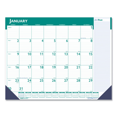 HOD148 - Express Track Monthly Desk Pad Calendar, 22 x 17, 2021-2022