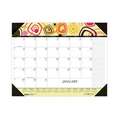 HOD149 - 100% Recycled Geometric Desk Pad Calendar, 22 x 17, 2019