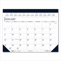 HOD15045101 - House of Doolittle™ 100% Recycled Two-Color Dated Monthly Desk Pad Calendar