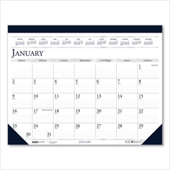 HOD1506 - House of Doolittle™ 100% Recycled Two-Color Dated Monthly Desk Pad Calendar