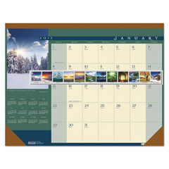 HOD168 - House of Doolittle™ Landscapes™ 100% Recycled 100% Recycled Monthly Desk Pad Calendar