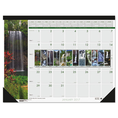 HOD171 - House of Doolittle™ Earthscapes™ 100% Recycled Waterfalls of the World Monthly Desk Pad Calendar