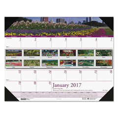 HOD1746 - House of Doolittle™ Earthscapes™ 100% Recycled Gardens of the World Monthly Desk Pad Calendar