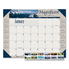 HOD175 - House of Doolittle™ Earthscapes™ 100% Recycled Motivational Monthly Desk Pad Calendar