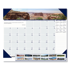 HOD176 - House of Doolittle™ Earthscapes™ 100% Recycled Mountains of the World Monthly Desk Pad Calendar
