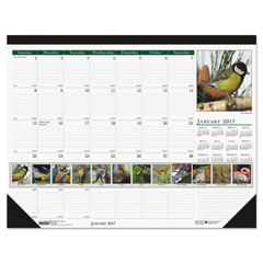 HOD192 - House of Doolittle™ Earthscapes™ 100% Recycled Wild Birds Monthly Desk Pad Calendar