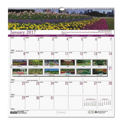 HOD301 - House of Doolittle™ Earthscapes™ 100% Recycled Gardens of the World Monthly Wall Calendar