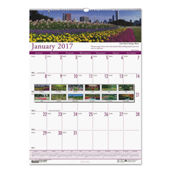 HOD303 - House of Doolittle™ Earthscapes™ 100% Recycled Gardens of the World Monthly Wall Calendar