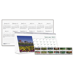 HOD309 - House of Doolittle™ Earthscapes™ 100% Recycled Garden Desk Tent Monthly Calendar with Photos