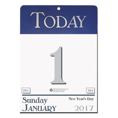 HOD310 - Recycled Today Wall Calendar, 6 1/2 x 9, 2019