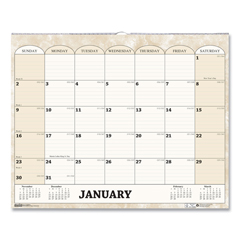 HOD319 - House of Doolittle™ 100% Recycled Monthly Horizontal Wall Calendar