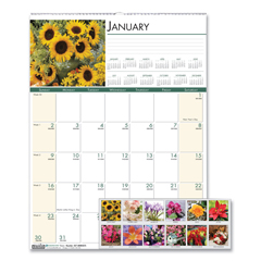 HOD327 - House of Doolittle™ Earthscapes™ 100% Recycled Floral Monthly Wall Calendar