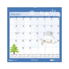 HOD338 - 100% Recycled Seasonal Wall Calendar, 12 x 12, 2021