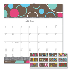 HOD340 - 100% Recycled Bubbleluxe Wall Calendar, 12 x 12, 2019