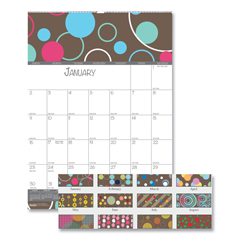 HOD341 - 100% Recycled Bubbleluxe Wall Calendar, 12 x 16 1/2, 2019