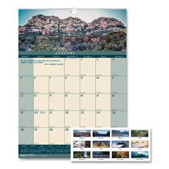 HOD362 - House of Doolittle™ Earthscapes™ 100% Recycled Landscapes™ Monthly Wall Calendar