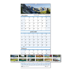 HOD3636 - House of Doolittle™ Earthscapes™ 100% Recycled Scenic Three-Month Format Wall Calendar