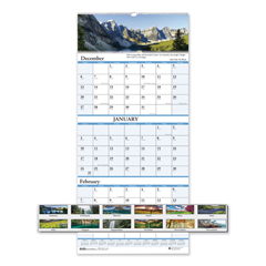 HOD3638 - House of Doolittle™ Earthscapes™ 100% Recycled Scenic Three-Month Format Wall Calendar